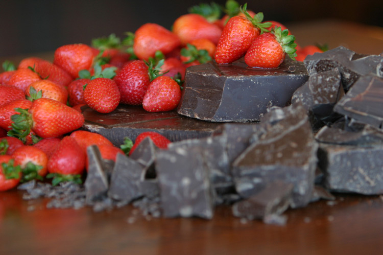 Fresas y chocolate, un toque gourmet.