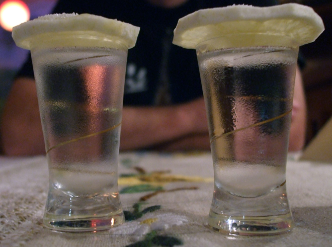 how to take shots of vodka